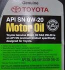Genuine Toyota / Lexus 0w20 Motor Oil Qty 12 Quarts in a Case