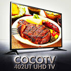 "[CROSSOVER] NEW 40"" COCO 402UT Real 4K UHD TV 60Hz 3840x2160 HDMI LED TV Monitor"
