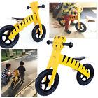 DIY Assembly Kids Balance Development Bike Wood Frame Bicycle Children Ride NEW