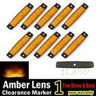 10X Amber 12V 24V 6 LED Truck Bus Boat Trailer Side Marker Indicators Light Lamp
