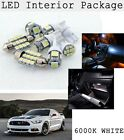 8X Xenon White SMD LED Interior Package Tag Light For 2015 2016 Ford Mustang KP