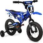 "Kids Motocross BMX Bike 12"" Boys Bicycle Training Wheels Children Ride On Blue"