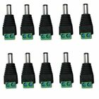 10x DC 5.5 x 2.1mm Power Male Jack Adapter Plug Cable Connector Camera CCTV LED