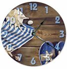 """UMBRELLA AND SANDALS Clock - Large 10.5"""" Wall Clock - 2062"""