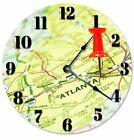 """ATLANTA LOCATION Clock - Large 10.5"""" Wall Clock - 2061"""