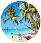 "BEACH PALM TREES Clock - Large 10.5"" Wall Clock - 2083"