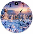 "MOUNTAIN TOP TREES Clock - Large 10.5"" Wall Clock - 2076"