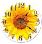 "YELLOW SUNFLOWER Clock - Large 10.5"" Wall Clock - 2110"
