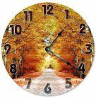 """AUTUMN DIRT ROAD Clock - Large 10.5"""" Wall Clock - 2124"""