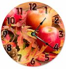 """AUTUMN APPLES LEAVES Clock - Large 10.5"""" Wall Clock - 2121"""