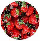 "STRAWBERRIES Clock - Large 10.5"" Wall Clock - 2118"
