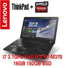 NEW ThinkPad E560 E570 i7 FHD IPS Radeon R7 M370 8GB 1TB AC 4Y On-site Warranty
