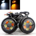 2x White/Yellow Eagle Eye 2835 6SMD LED Car Daytime Running Turning Signal Light