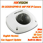 Hikvision DS-2CD2542FWD-IS 4MP IP Camera POE WDR Audio Mini MIC P2P Onvif Dome