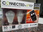 TCP Connected Smart LED Bulb Starter Kit: 2xA19 Soft White 60W Bulbs/Gateway