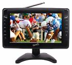 "New Supersonic 10"" Portable Rechargeable Digital LCD TV w/ Tuner USB/SD Remote"