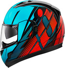 Icon Alliance GT Primary Motorcycle Full Face Helmet Blue/Red Medium MD