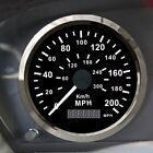 GPS Speedometer Waterproof Steel Black Bezel Gauge 200MPH 300KMH Car Truck 85mm