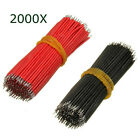[NEW] 2000Pcs 6cm Breadboard Jumper Cable Electronic Wires Black Red Colour