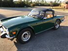 1976 Triumph TR-6  1976 Triumph TR-6 Roadster Beautiful Racing Green and Palomino Leather interior