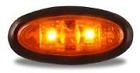 Lot of 20 Mini LED Amber Oval Marker Lights