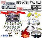 9pcs Super White 5630LED Interior Light Kit For Benz V-Class V350 W639 2007-2012