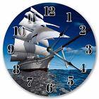 "10.5"" SAILBOAT IN BIG BLUE OCEAN CLOCK Large 10.5"" Wall Clock Home Décor - 3017"