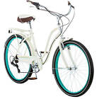 Bicycle Speed Cruiser Women Schwinn Ride Retro Beach Road Town Hybrid Cream New