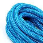 2pcs Premium 3/8 Inch 15 FT Double Braid Nylon Dockline Durable-blue color