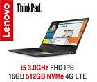 NEW ThinkPad T560 3.0GHz FHD IPS 8GB 256GB SSD AC BT W10P 3Y OS Warranty T570