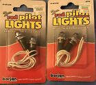2 Pack Of 2 Red Pilot Indicator Lights By Barjan Dashboard Or Control Panel NEW