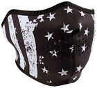 Zan Headgear Black & White Flag Reversible Cold Weather Neoprene Half Face