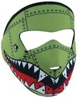 Zan Headgear Green Small Bomber Face Mask One size fits most WNFMS010 Half Face