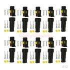 120 Kits 2 Pin Way Sealed IP68 Electrical Wire Connector Plug 1.5mm Terminal
