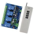 DC12-48V 4CH Wireless Remote Control Switch + 4-key Remote Controller 3km