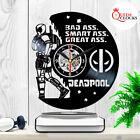 Marvel Deadpool Vinyl Record Large Clock Birthday Xmas Gifts Room Decor Wall Art