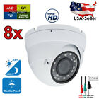 8x 960p HD Manual Zoom IR Night Vision Lens Outdoor Indoor Security CCTV Camera