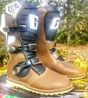 New In Box Gaerne Balance Pro-Tech Motorcycle Boots  Size 10 Brown 2524-013-10