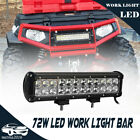 12in LED Light Bar Side X Side Yamaha Rhino Viking VI Grizzly SXS Sand Quad ATV