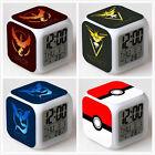 Pokemon GO Digital Glowing Alarm Clock 7 Colors Change LED Night light Deco *E*