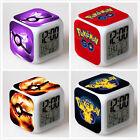 Pokemon GO Digital Glowing Alarm Clock 7 Colors Change LED Night light Deco *F*