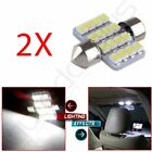 2pcs White 31mm 16SMD DE3175 DE3022 Festoon LED Interior Dome Light Bulbs US
