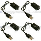 Lot Of 4 USB Battery Charger Cable for 510 Threaded Battery Charger Cable NGB-48