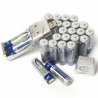 Lot 24PCS AA 3000mAh 1.2V Rechargeable BTY Battery Ni-Mh With USB Ni-MH Charger