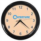 Aperture Laboratories Half Life Logo Game #D01 Wall Clock