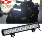"126W Caliber Racing 20"" Led Radius Brightest Light Bar Straight ATV ATC Honda"