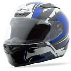 GMAX FF88 X-STAR FULL-FACE MOTORCYCLE HELMET WHITE/BLUE X-LARGE XL 72-4772X