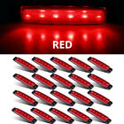 "20 Pcs 3.8"" 6 LED Red Side Marker Lights, Trailer Marker Lights, RV Marker light"