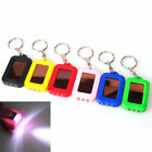 LED 3 Solar Flashlight Mini Power Panel Portable Keychain light 1PCS Keyring