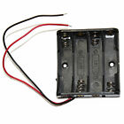 4 AAA Electronics Cell Battery Holder Case Box Storage 6V Lead Wires Cable 1pc